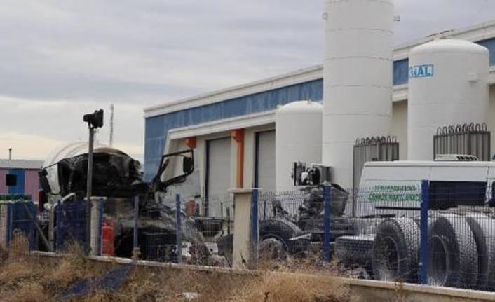 Gaz dolum tesisinde patlama oldu
