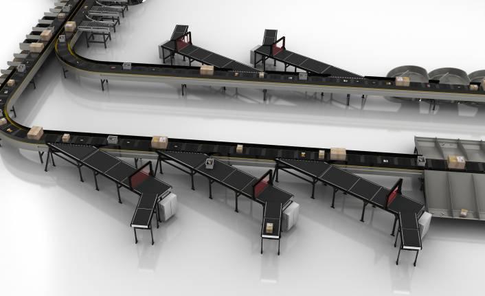 Interroll, sorter'lar için yeni bir besleme konveyörü sunuyor