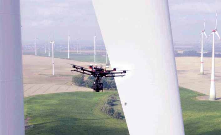 Ülke Enerji, drone ile türbin bakımı yapıyor