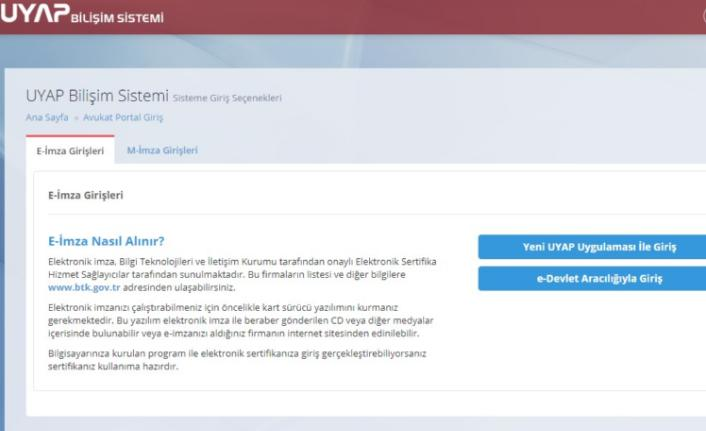 UYAP avukat portal girişi nasıl yapılır?