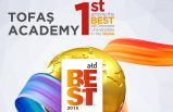 Tofaş Akademi'ye dünyanın en iyisi ödülü
