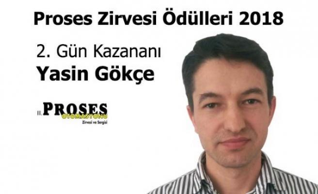 Proses Zirvesi Ödülleri 2018'in ikinci gün kazananı Yasin Gökçe oldu