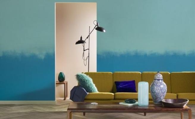 Canlı renkler ile evlerde sanatsal donukunuşlar