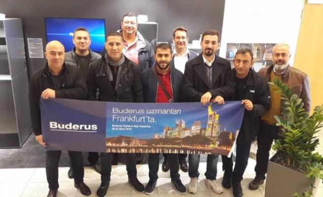 Buderus toptancı bayileri Frankfurt'ta bir arada
