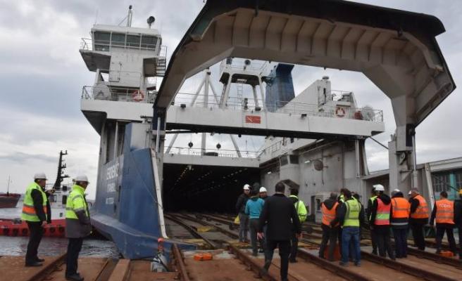 Tren Ferry taşımacılığının ilk deneme seferi tamamlandı