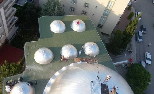 Zirve Cami'nin çatıları Bituline su yalıtım membranlarıyla korunuyor