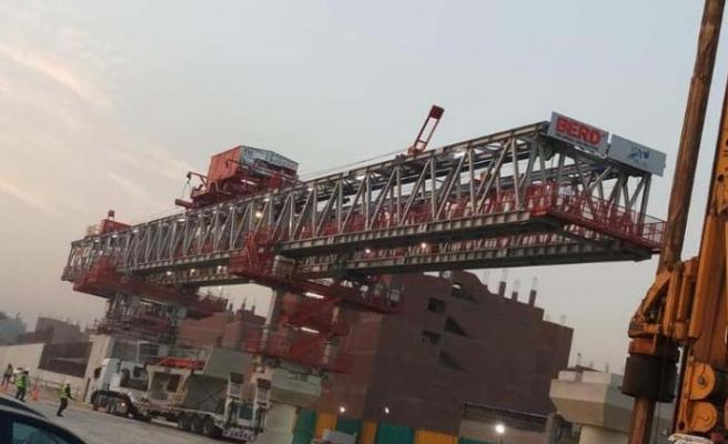 BVS, viyadük köprü yapım vincini Mısır'a teslim etti