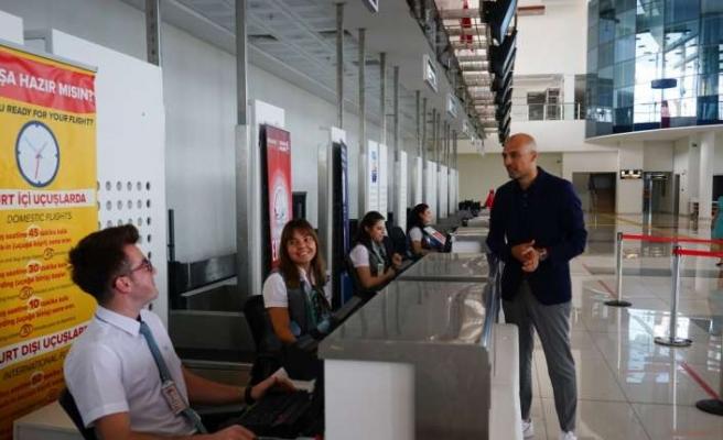 Koca Seyit Havalimanı'ndan 6  aylık rekor