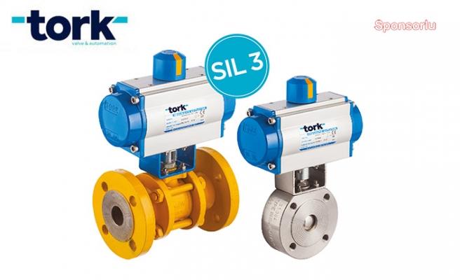 Kimya sektörü için  SIL3 sertifikalı TORK Pnömatik Aktüatörleri
