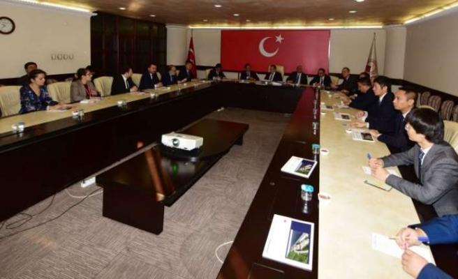 Çin heyetine, Trabzon'daki iş olanakları konusunda bilgilendirme yapıldı