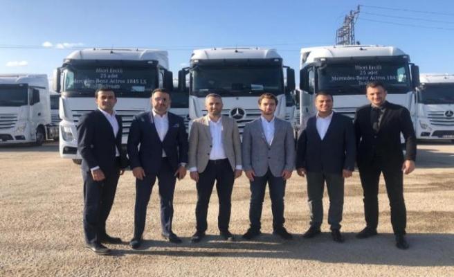 Mercedes-Benz Türk, 25 adetlik  Mercedes-Benz Actros teslimatı gerçekleştirdi