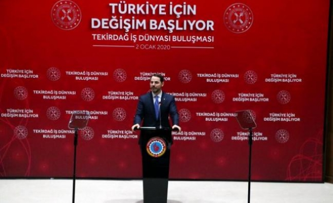 Bakanı Albayrak, Tekirdağ'da iş insanlarıyla buluştu