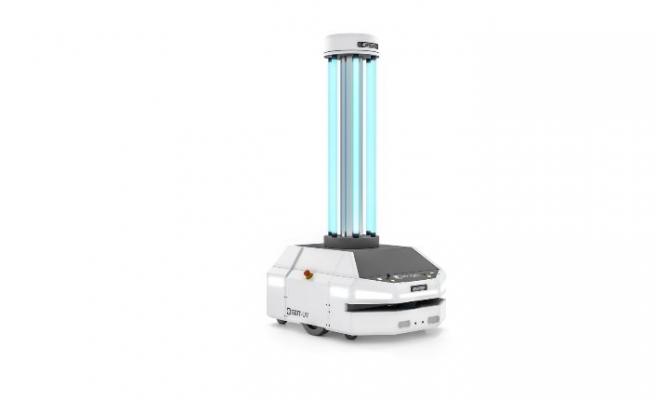 Otonom mobil robotunu, dezenfeksiyon robotuna dönüştürdü