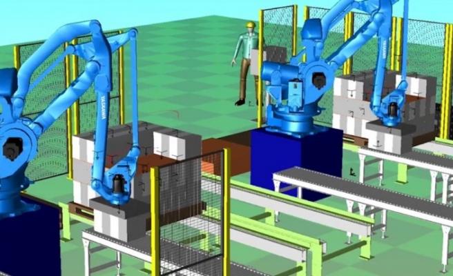 Simülasyonda robotik paletleme hücresi nasıl kurulur?