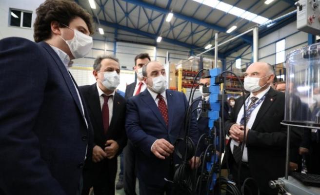 Bakan Varank, SMS Tork fabrikasını ziyaret etti