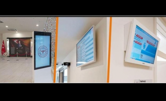 Okmeydanı Şehir Hastanesi'nin bilgilendirme ekranlarını teslim etti