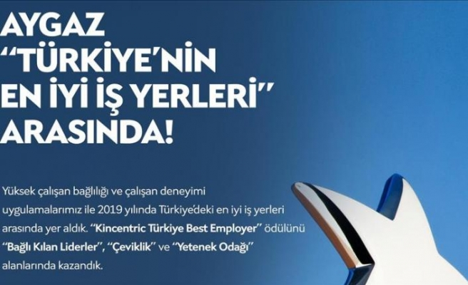 """AYGAZ'A """"TÜRKİYE'NİN EN İYİ İŞ YERİ"""" ÖDÜLÜ VERİLDİ"""