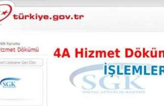 SGK 4A hizmet dökümü