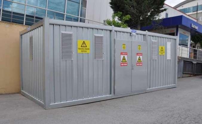 Tehlikeli atık depolama için konteyner üretti