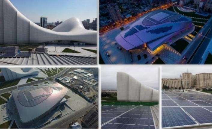Azerbaycan - Bakü Kongre Merkezi'nin çatısında Schmid Pekintaş imzası