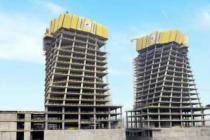 Finans Merkezi'nin yıldızı Doka sarısına boyandı