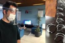 3D yazıcılarla siperli maske üretip, sağlık kurumlarına bağışlıyor
