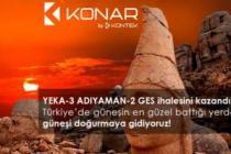 KONTEK ENERJİ YEKA-3 ADIYAMAN-2 GES İHALESİNİ KAZANDI