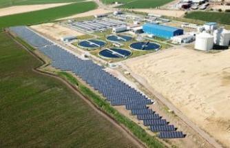 Atık su arıtma tesisine güneş santrali kuruldu