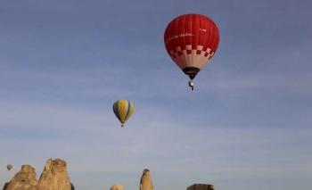 Yerli ve milli balon Kapadokya semalarında
