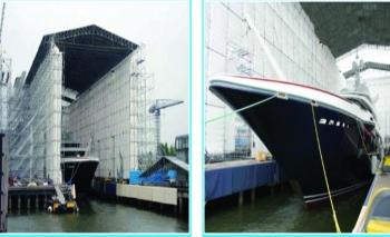 Layher Çatı & Koruma Sistemleri ile gemi inşaatında verimliliği arttırıyor