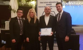 Form'a Türk Tesisat Mühendisleri Derneği'nden anlamlı ödül