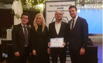 Türk Tesisat Mühendisleri Derneğinden Form'a teşekkür belgesi