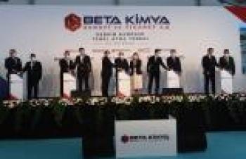 BETA Kimya'dan 315 milyon TL'lik üretim tesisi yatırımı