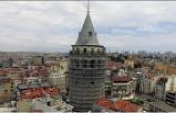 Galata Kulesi'nin restorasyon çalışmalarına katkı sağlıyor