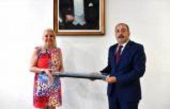 KARDEMİR Genel Müdür Vekili Özkara, TCDD Taşımacılık AŞ Genel Müdürü  Yazıcı'yı kabul etti