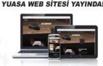 YUASA'NIN TÜRKİYE WEB SİTESİ YAYINDA